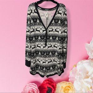 Live love dream cozy vibes pajama romper large